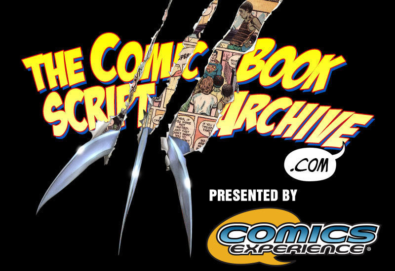 Comic Book Script Archive - Presented By Comics Experience